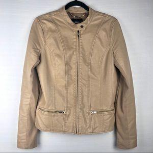 Express Faux Leather Tan Jacket, M.